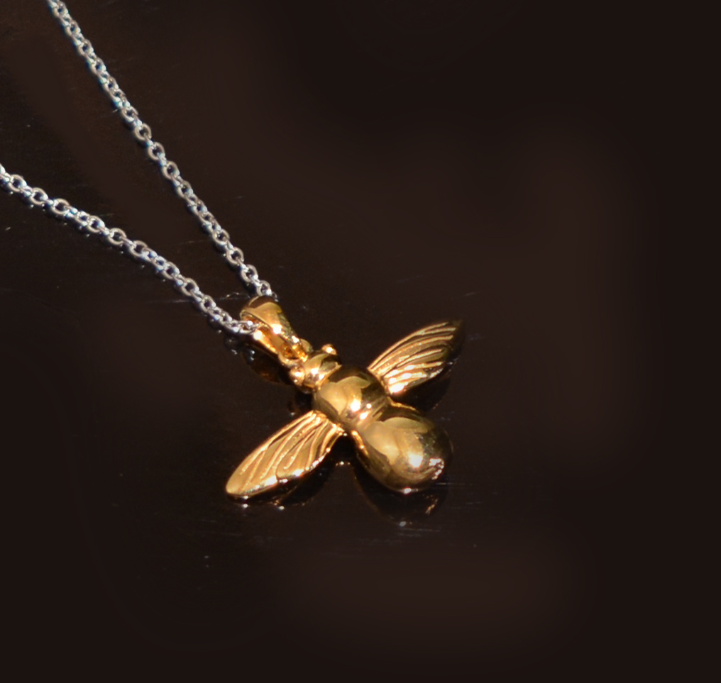 silver bee necklace £56.00