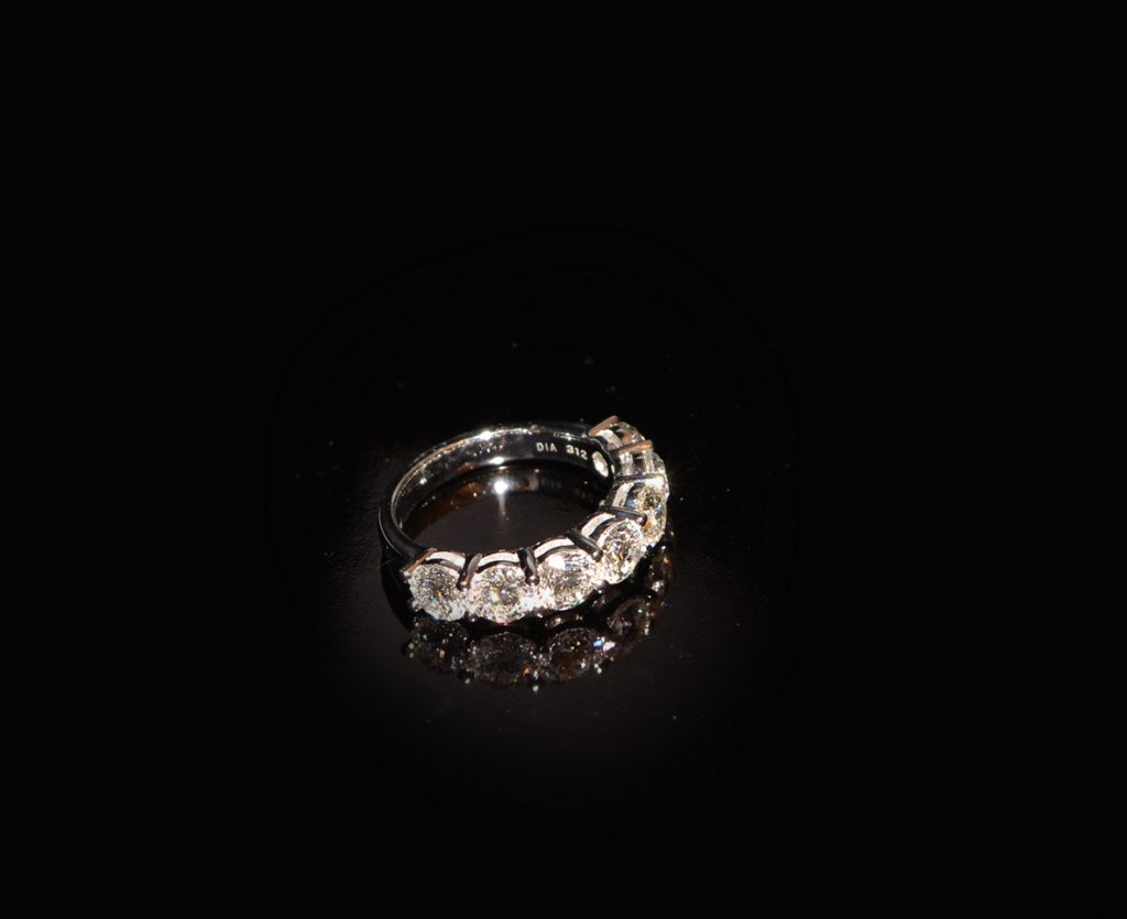 This beautiful 3.12 carat diamond eternity ring is one of a kind and available in store. £11,500 was £15,000
