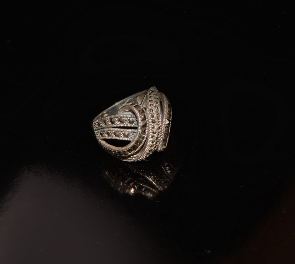 Silver Marcasite stud cocktail ring £95.00