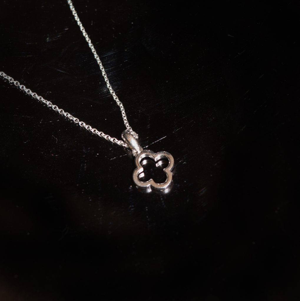 Silver pendant on chain (available in yellow gold also) £65.00