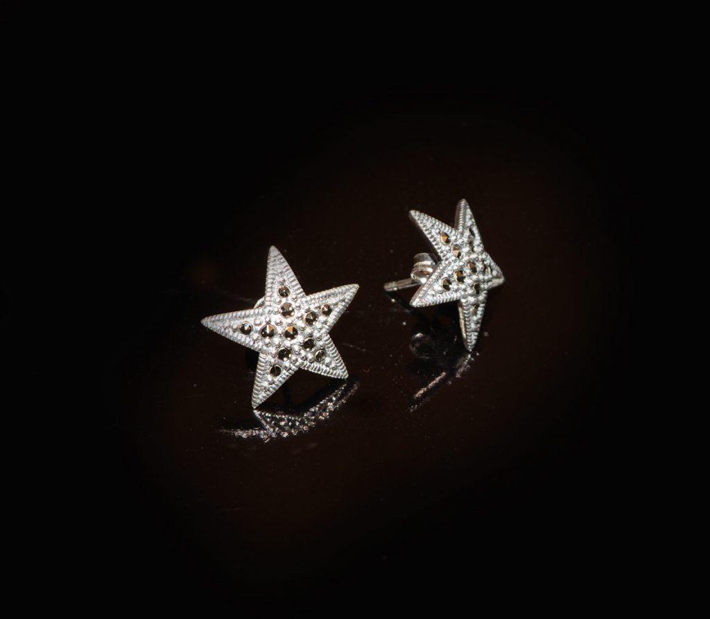 Marcasite studded star earrings £45.00